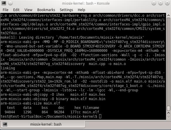 Linux Quick Start - Miosix Wiki
